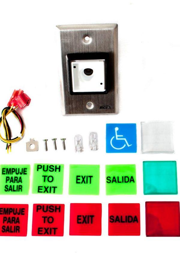 Botón salida placas intercambiables